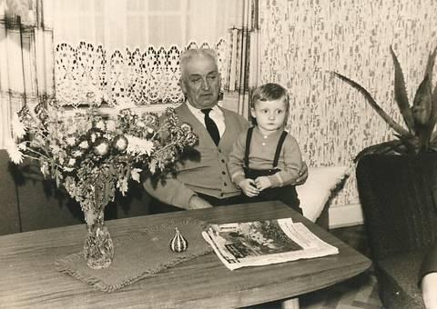 Opa Max und Enkel Andreas