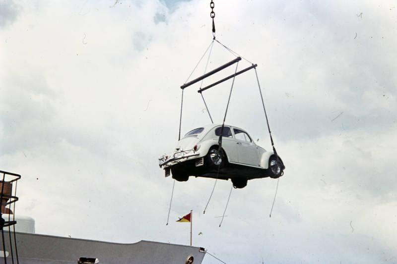 schiff, Verladung, volkswagen, vw, VW Käfer