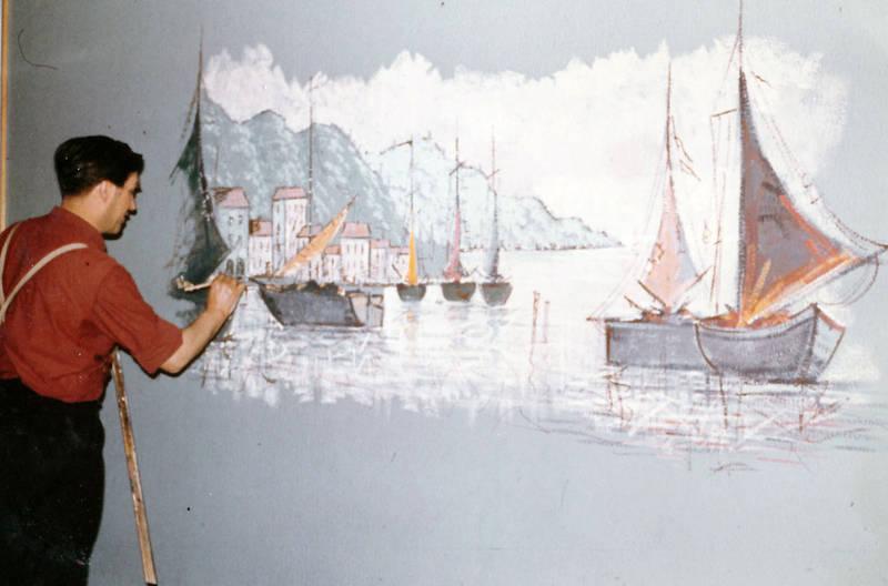 kunst, Kunstmaler, Wandmalerei