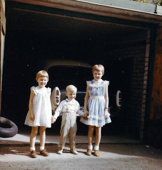 auto, Garage, Hof, Kindheit, tor