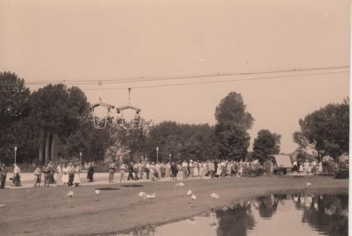 Rheinpark in Köln 1958