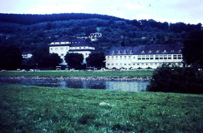 Kurhaus, liegewiese, Weser