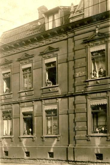 bewohner, Fenster, hausbewohner, kommunikation, Ruhrgebiet