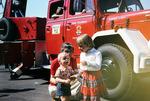 Am Feuerwehrwagen