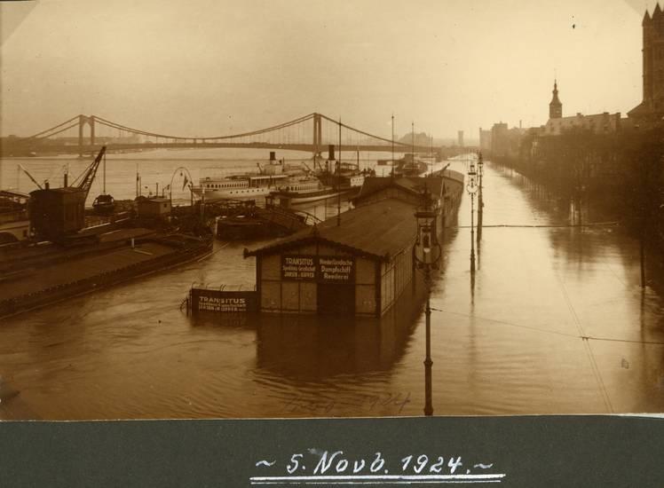 1924, Hochwasser, köln