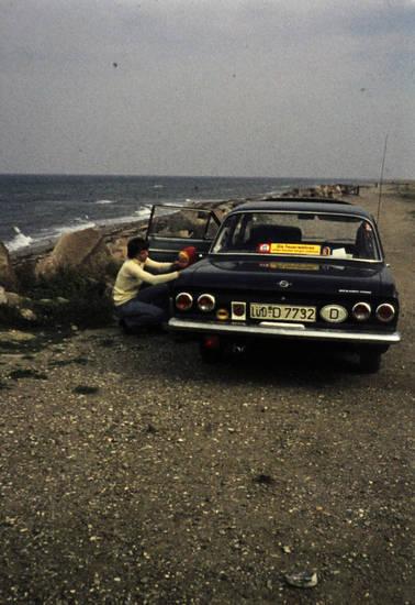 auto, Jacke, Kennzeichen, KFZ, Kindheit, meer, Nebelschlussleuchte, Norderney, Opel, PKW, strand, urlaub