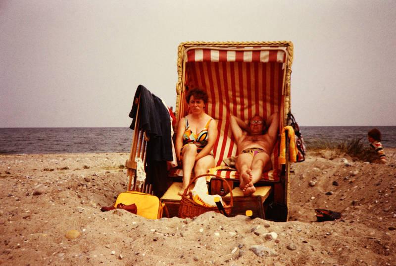 Badekleidung, ehepaar, Fehmarn, insel, meer, strand, Strandkorb, urlaub
