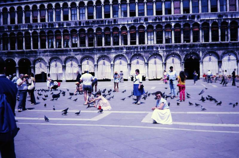 Italien, Markusplatz, Piazza San Marco, taube, tourist, Venedig