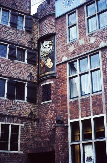 böttcherstraße, Bremen, Fassade, Fenster, glockenspiel, haus