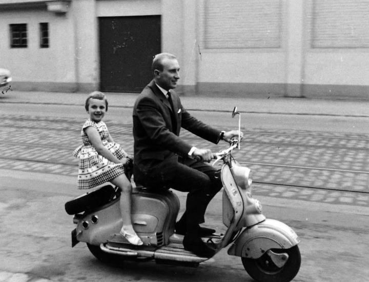 fahrt, lambretta, Motorroller, Rücksitz, straße