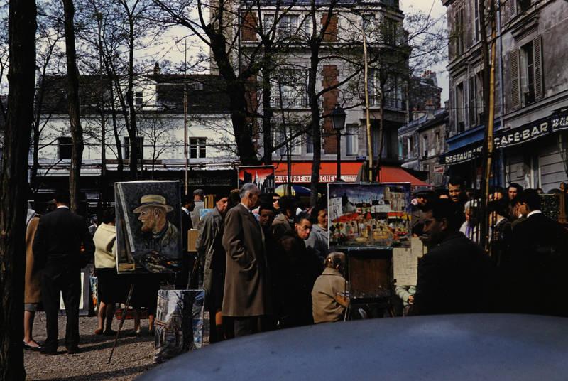 Künstler, Maler, markt, montmartre, Place du Tertre