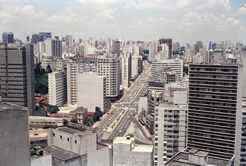 Blick über eine Großstadt