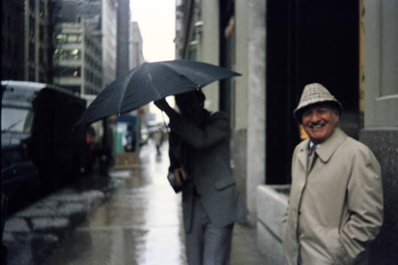 regen, regenschirm, stadt, usa