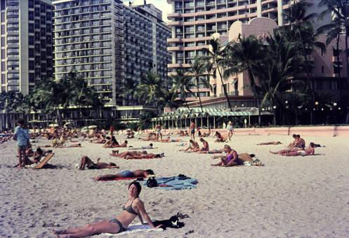 Ein Strand auf Hawaii