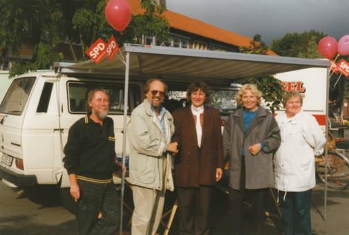 SPD-Wahlkampf-Wagen