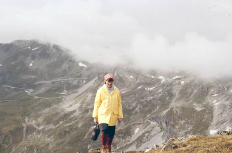 bayern, Berg, Kopftuch, Regenjacke, urlaub, wandern, Wanderschuhe