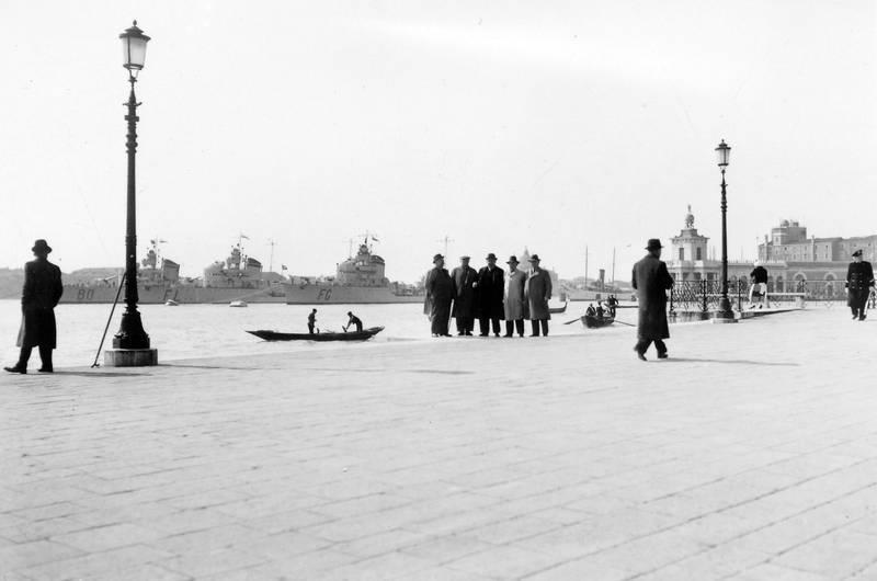 Flotte, Gondel, Hafen, meer, schiff, Venedig