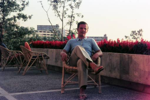 Auf der Terrasse am Hotel