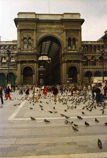 einkaufsgalerie, Galleria Vittorio Emanuele II, Mailand, Platz, taube