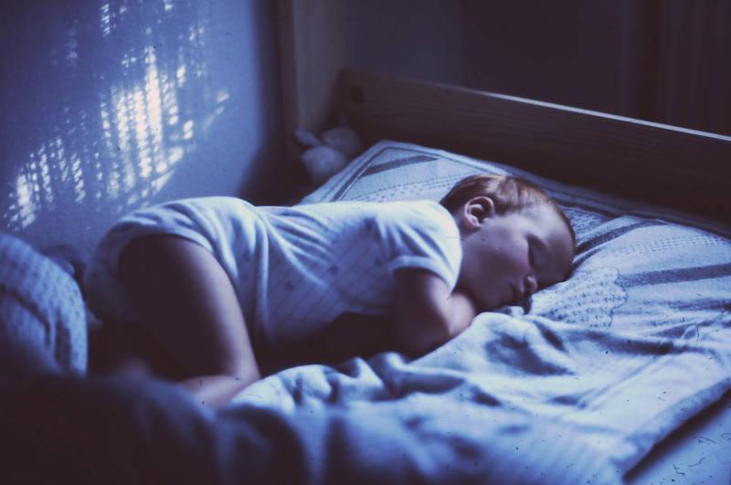 bett, Kindheit, schlafen, urlaub