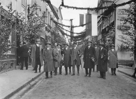 Ein Straßenfest in Remagen