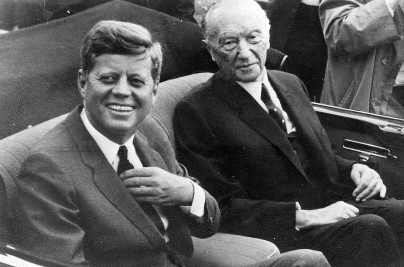 Bundeskanzler, Düsseldorf, John F. Kennedy, konrad adenauer, Präsident, Staatsbesuch, usa
