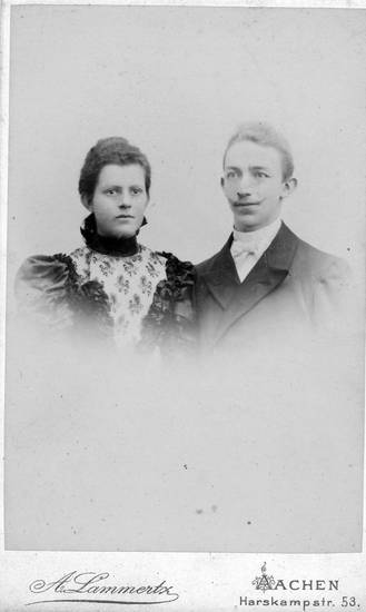 1897, Aachen, Carte de visite, kleid, Paar, porträt