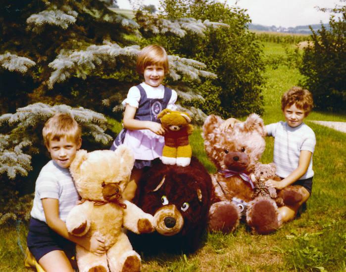 Kindheit, Kuscheltier, Teddy, Teddybär, wiese