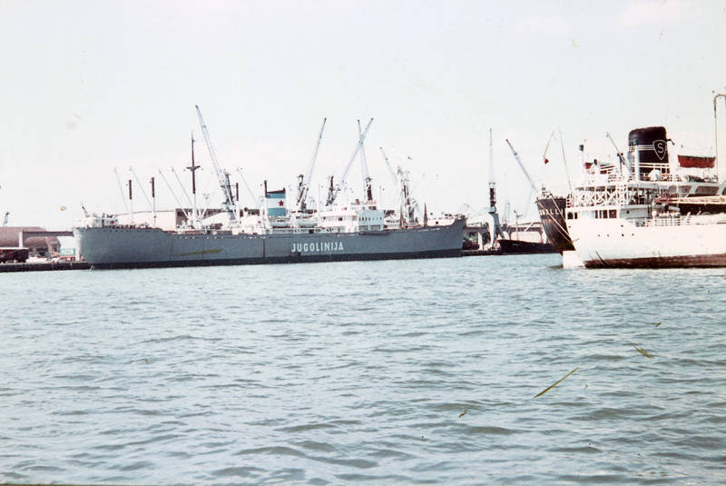 Hafen, jugolinija, meer, schiff, wasser