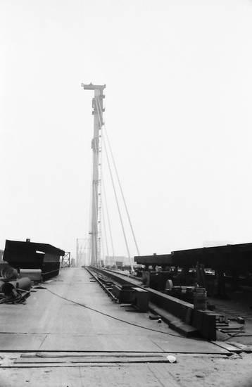 Bau, Baustelle, brücke, brückenumbau, Düsseldorf, Oberkasseler Brücke, Umbau
