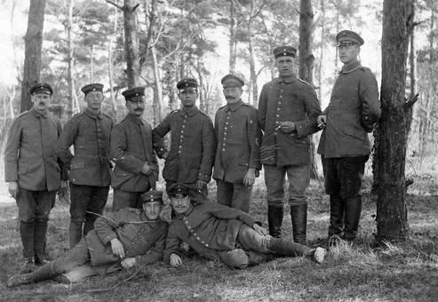 Postkarte Soldaten