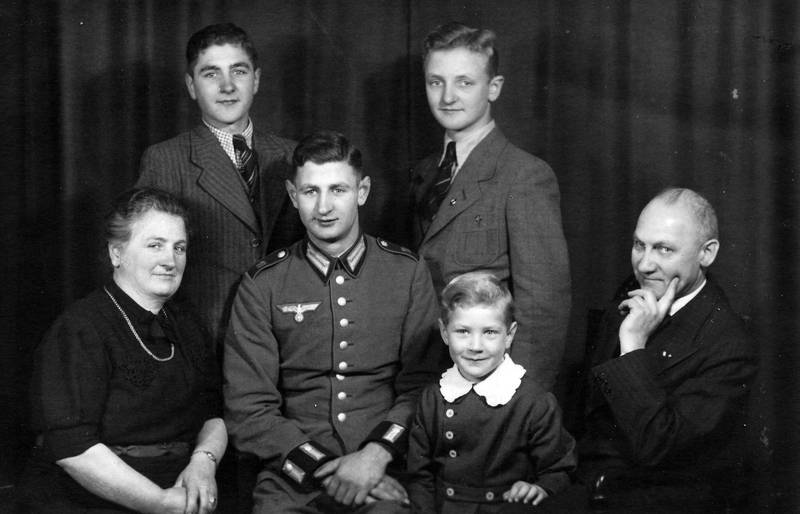 familie, sohn, soldat, Stolz, Uniform, zweiter weltkrieg