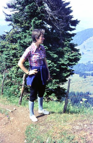 Abhang, Ausblick, Aussicht, Berg, kniebundhose, Wanderung