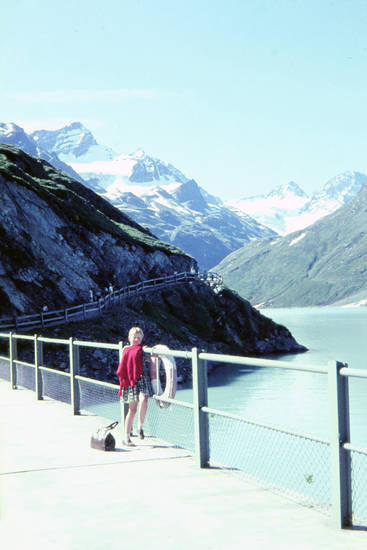 Aussicht, Berg, brücke, fluss, Gebirge, Ischgl, Kindheit, rettungsring, urlaub, wasser