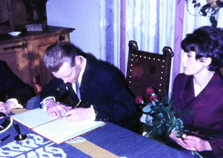 Buch, eintrag, Hochzeit, Paar, rose, Standesamt, Strauß