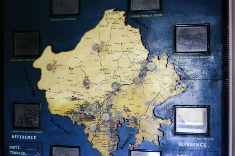 bundesstaat, indien, Karte, rajasthan, Udaipur
