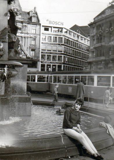 Bosch, Brunnen, frau, Radio, Straßenbahn, wappen, Zürich