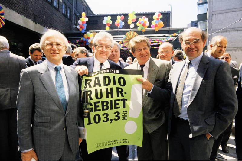 lueg, Oberbürgermeister, Radio, Radio Ruhrgebiet, reuschenbach, Studio Essen, Studiofest, WDR