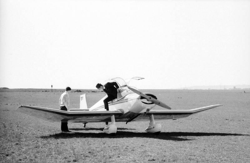 aussteigen, flieger, flugzeug, Propeller, wiese