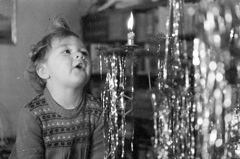 Baumschmuck, Kerze, kind, Lametta, mädchen, Tanne, Tannenbaum, Weihnachten, Weihnachtsbaum, weihnachtsfest