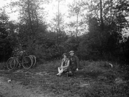 Pause während der Radtour