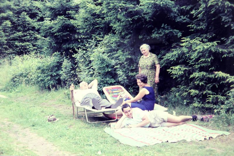 Decke, familie, Feldweg, pause, Sonnenliege