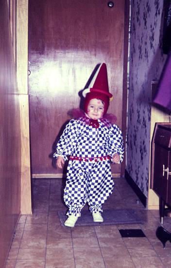 Clown, flur, Kostüm, verkleidung