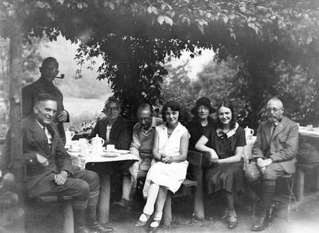 Gäste im Freien