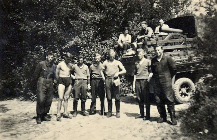 Gruppenbild, Lastwagen, LKW, soldat
