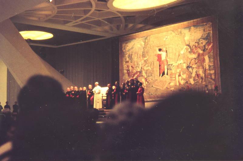 Gemälde, Glaube, Johannes Paul II., Katholisch, Katholische Kirche, Papst, rede, Religion