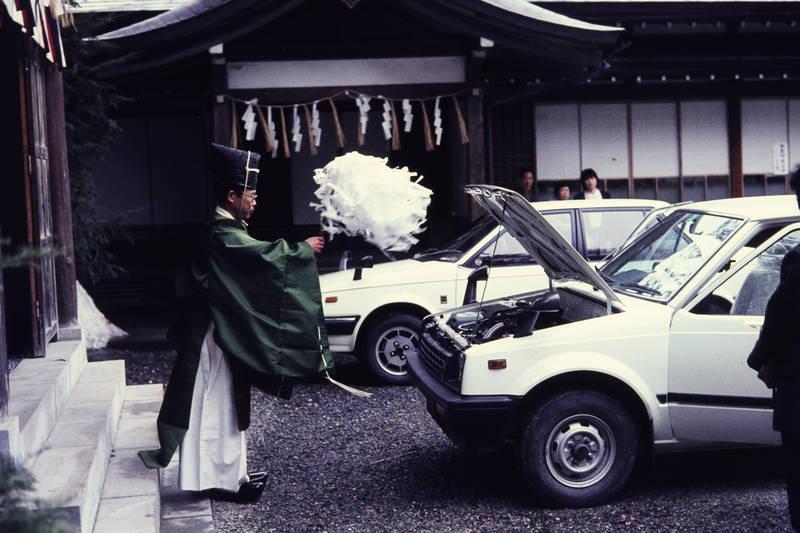 auto, Brauchtum, KFZ, motorhaube, PKW, reise, ritual, Shinto, urlaub, Zeremonie