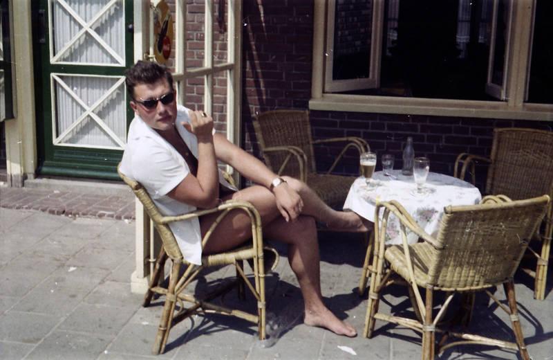 café, Flasche, Glas, Korbstuhl, lokal, sonnenbrille, Terrasse, tisch, urlaub