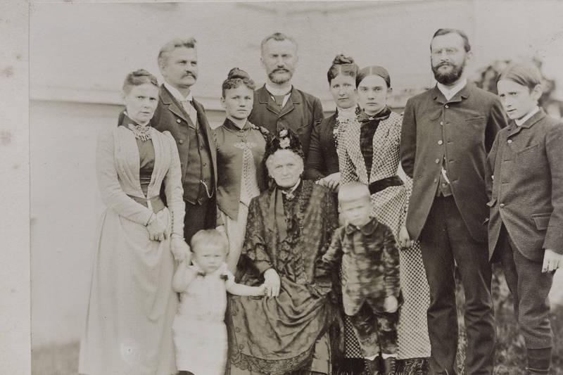 Enkel, familie, familienfoto, Großmutter, gruppenfoto, Mutter, sohn, töchter, vater
