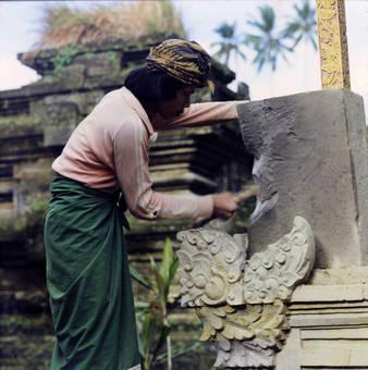 Arbeit am Tempel